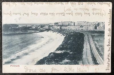 Portrush and Railway Line Co Antrim Postcard Northern Ireland 1900's