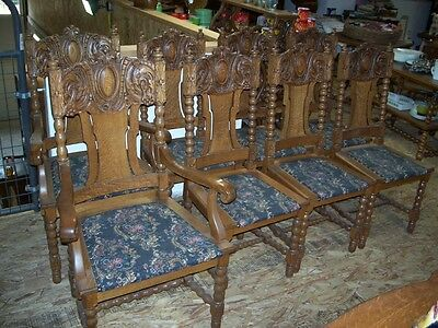 Quarter Sawn Oak  Dinning Chairs Set of Eight
