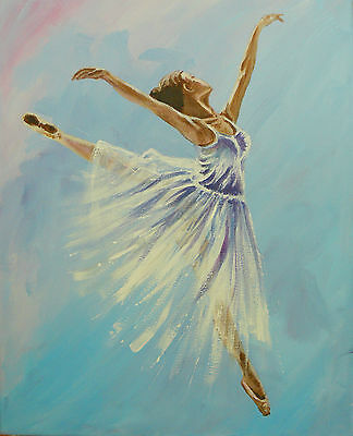 Original signed painting in canvas frame - Ballerina 002