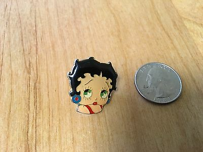 betty boop lapel pin , in red dress