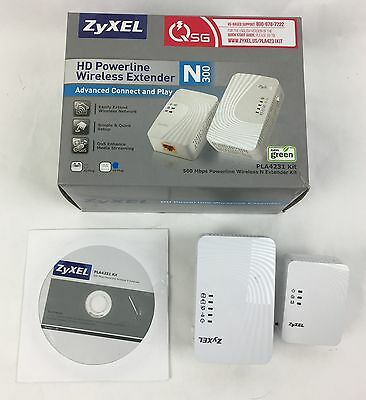 Zyxel HD PowerLine Wireless Extender N300 PLA4231 PLA4201 v2 - FAST SHIPPING!