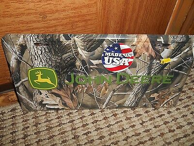 CAMO   John Deere Metal License Plate