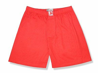 Biagio Men's Solid RED Color BOXER 100% Knit Cotton Shorts size 3XL