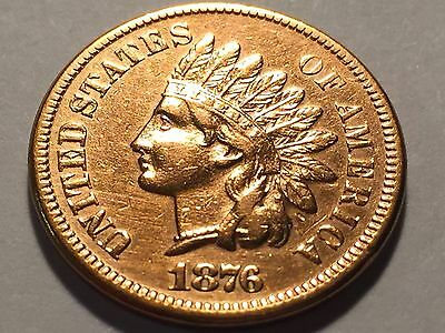 1876 * Indian Head Cent * Penny * High Grade #2 *