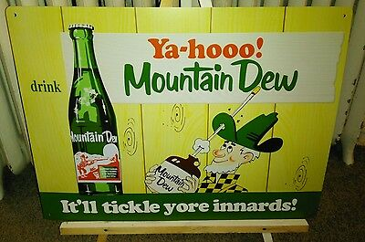 MOUNTAIN DEW SODA POP SIGN IT'll TICKLE YOUR INNARDS!!!
