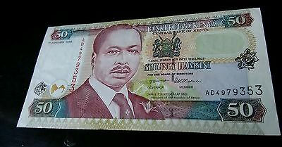 Kenya Au 50 Shillings 1996 Banknote World Currency Paper Money