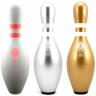 Original Strikemaker Tenpin Bowling Pin, also as Set: white, silver, gold, NEW