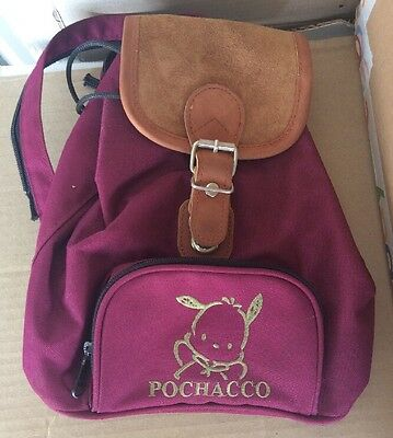 vintage sanrio pochacco mini backpack leather/canvas