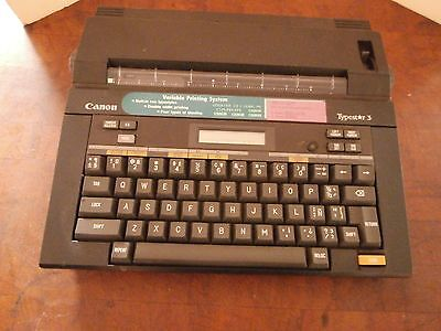 Canon Typestar 3 Electronic Typewriter with Cover
