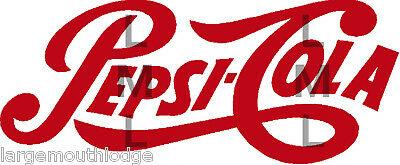 Pepsi Logo Script Red Decal 4 Inch Gumball Machine