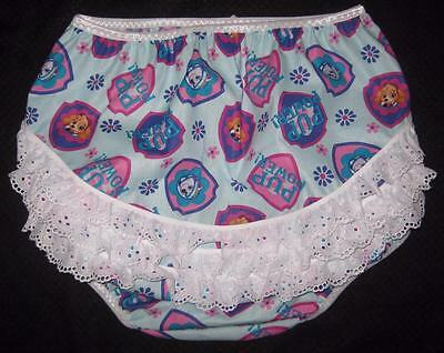 """Adult Baby 40"""" PAW PATROL Lace Butt DIAPER COVER, by LL"""
