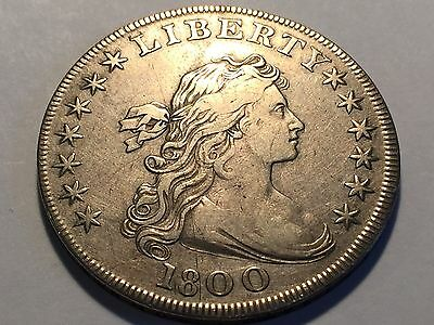 1800 Drapped Bust Silver Dollar * VF+ Quality * Wonderfull Historic Coin *