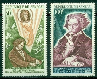 Senegal Scott #C89-C90 MNH Ludwig von Beethoven Music $$