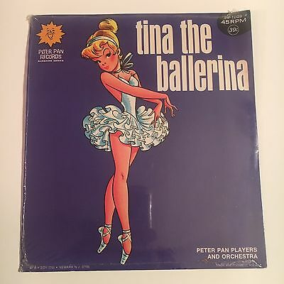 vintage TINA THE BALLERINA vinyl 45 PETER PAN RECORD 1028-rare SEALED NOS NEW