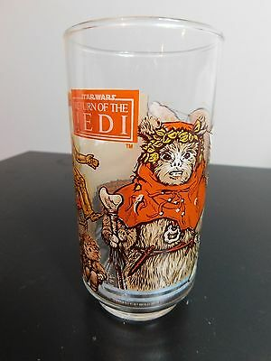 Vintage 1983 Burger King Return of The Jedi Star Wars Collector Glass Ewok R2-D2