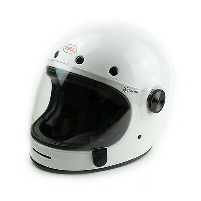 Bell Visor Clear To Suit Bullitt Helmet, Black Leather Tab, 1BUBC