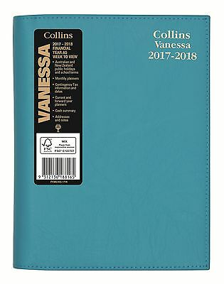 Diary Collins Vanessa A5 Blue Week to View Financial Year 2017-18 Spiral FY385