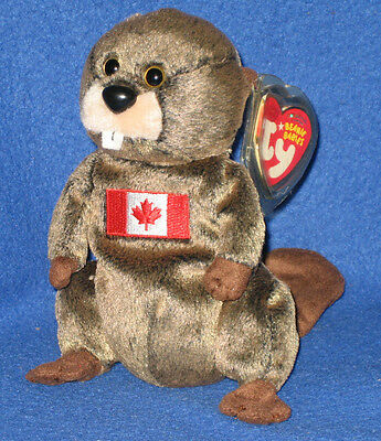 3806b72c615 TY TIMBERS the BEAVER BEANIE BABY - MINT with MINT TAGS - CANADIAN EXCLUSIVE