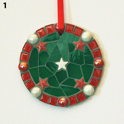 Handmade Mosaic Bauble Circle Ornament