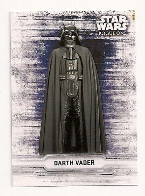 2016 Topps Star Wars Rogue One Sticker Card Darth Vader
