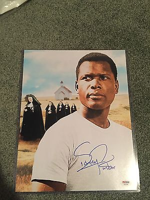 SIDNEY POITIER SIGNED 11x14 AUTHENTIC PSA/DNA AUTOGRAPH of OSCAR Lilies movie !