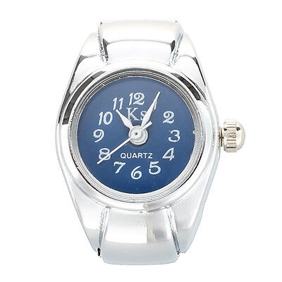 ring watch digit dial Arabic round blue deco unisex jewelry quartz ring ring HY