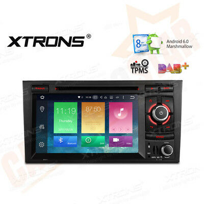 "UK 7"" Octa Core Android 6.0 In Car DVD GPS SAT NAV DAB+ Radio Stereo Audi A4 S4"
