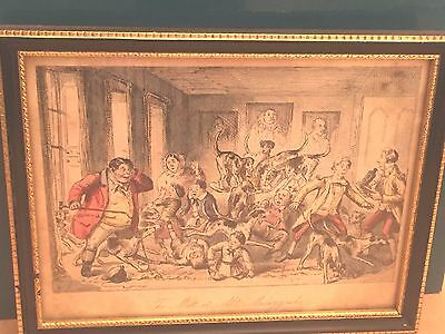 PAIR OF VICTORIAN HUMOROUS HUNTING THEMED PRINTS - 19th CENTURY