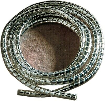 Drag DS-222979 Chrome Spiral Cable Wrap Wire Tidy 6mm Motorcycle/Trike 1.5m