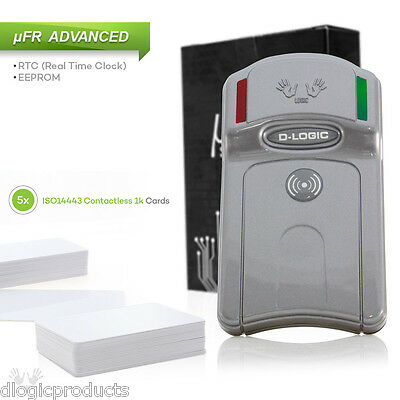 NFC RFID USB Reader Writer 13.56MHz uFR Advance FREE SDK and cards keyfobs