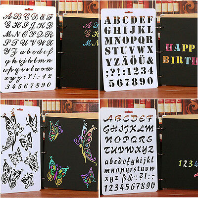 Lettering Stencil Letter Alphabet Stencils Painting Paper Craft Number Words