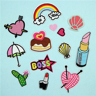 Cartoon Embroidered Iron On Patches Badge Sewing Applique for Bag Clothes Decor