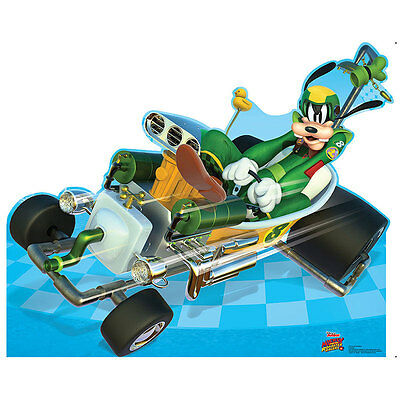 GOOFY Mickey & the Roadster Racers CARDBOARD CUTOUT Standup Standee Poster F/S