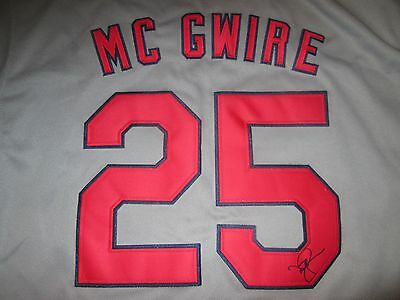 All Star And Mvp Mark Mcgwire Signed St Louis Cardinals Jersey Coa Athletics