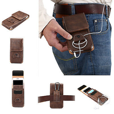 Luxury Leather Flip Belt Wallet Outdoor Pouch Card Cell Phone Case Cover Bag New