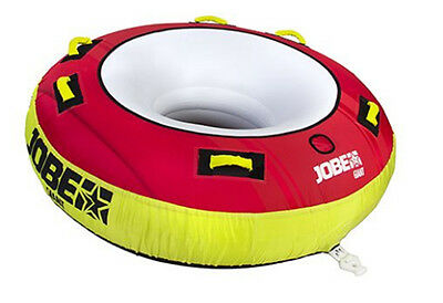 2017 Jobe Giant Towable Inflatable Tube, 3 Rider, Red. 34544