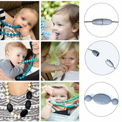 New Soft Silicone Teething Nursing Breastfeeding Necklace Chewing For Baby&Mummy
