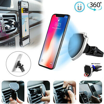 360°Universal Magnetic Car Air Vent Mount Holder Stand Cradle For Cell Phone GPS