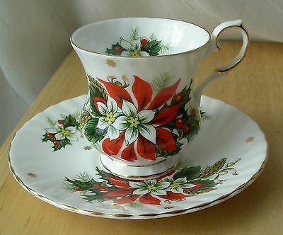 Royalty Noel Fine Bone China Tea Cup and Saucer