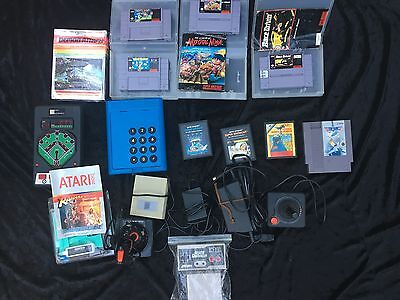 Atari Game Lot Console Plus Controllers And More Auction No Reserve! @@@ Look@@@