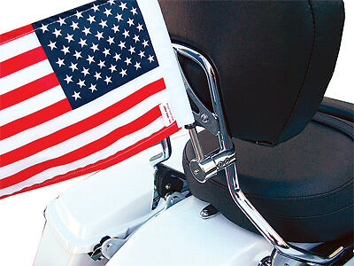 Pro Pad RFM-RDSB5 Sissy Bar Round Mount with USA Flag 6in x 9in