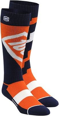 100% 24007-006-18 Torque Riding Socks Lg/XL Orange