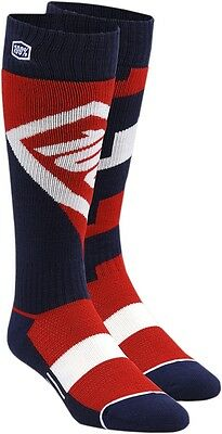 100% 24007-003-18 Torque Riding Socks Lg/XL Red