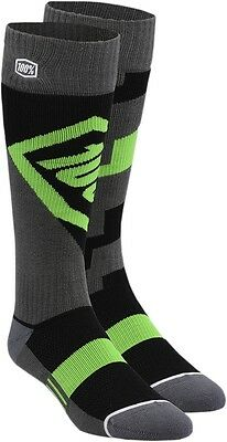 100% 24007-027-18 Torque Riding Socks Lg/XL Green