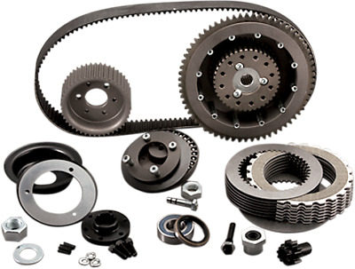 """BDL Enclosed Closed 8mm 1.5"""" Belt Drive Primary Kit Clutch Harley Softail 90-06"""