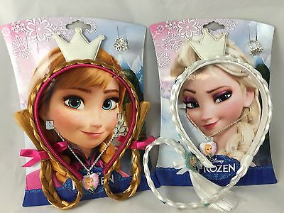WHOLESALE x 10 FROZEN HAIR + JEWELLERY SETS ANNA ELSA PARTY BAGS GIFTS TOYS RING