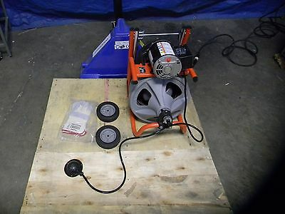 "Ridgid Electric Drain Cleaning Machine 1/2"" x 75' Solid Core Cable Model #K-400"