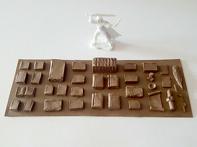 Books Detail Sheet Set - D&D dnd Pathfinder rpg terrain scenery dungeon 28mm