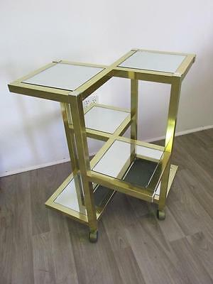GOLD-CHROME/MIRRORED ROLLING SHELF Lot 87