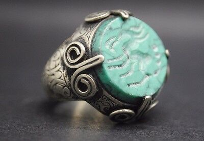 Beautiful Antique Silver Ring With Animal Seal